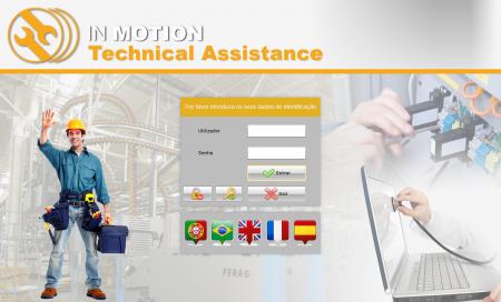 Technical Assistance - Ecrã de Login