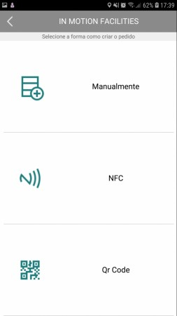 Facilities - NFC, QR Code, Manual